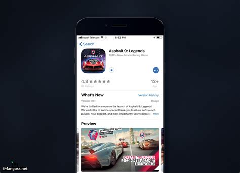 asphalt 9 legends now available in appstore