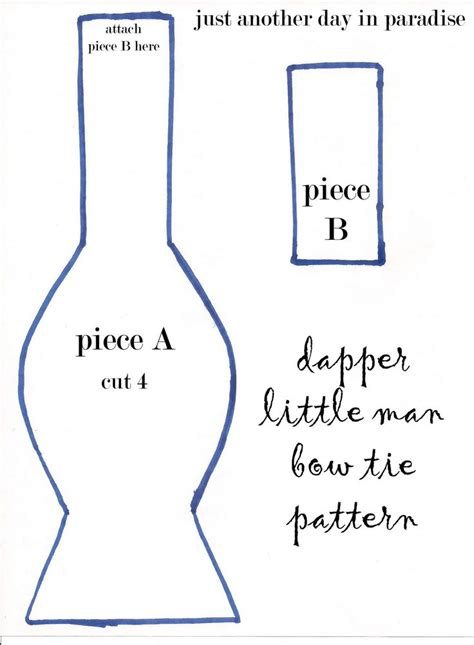 patterns for pirates bow tie just another day in paradise dapper little man bow tie