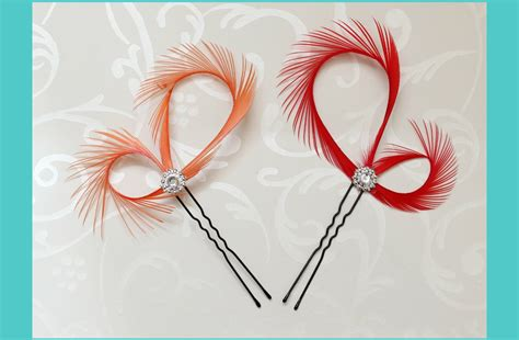 wedding hair accessories orange orange bridal hair accessories feather fascinator