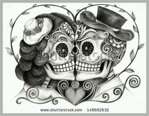 day of the dead couples tattoos 25 best ideas about skull on