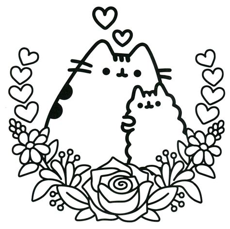 pusheen coloring pages pdf free coloring pages at pusheen free colouring pages