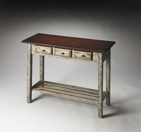 reclaimed wood console table decorations loccie