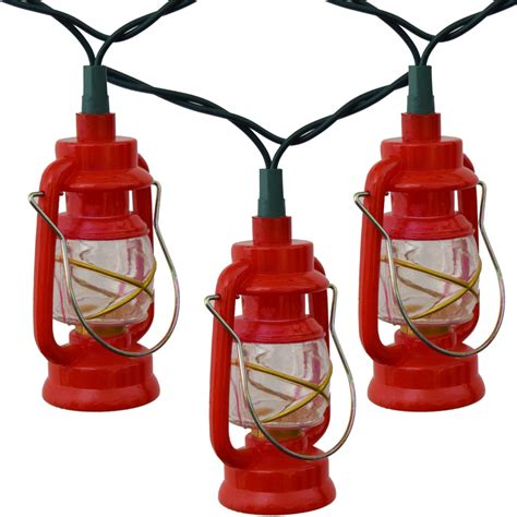 Red Prospector Lantern Party String Lights Lantern Patio Lights