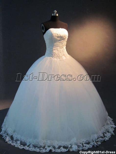 Strapless Princess Ball Gown Wedding Dress IMG 2436:1st dress.com