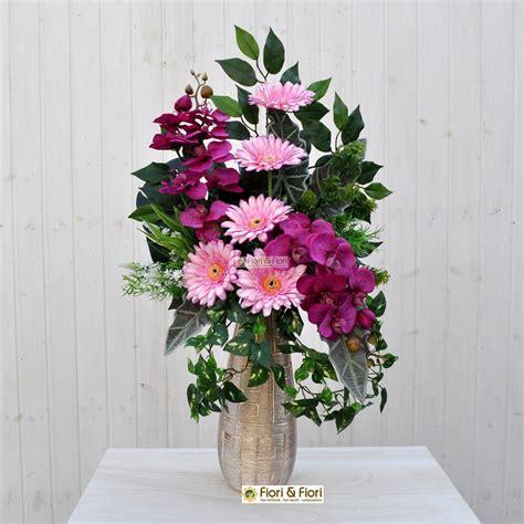 fiori per cimitero bouquet fiori artificiali gerbera rosa per cimitero