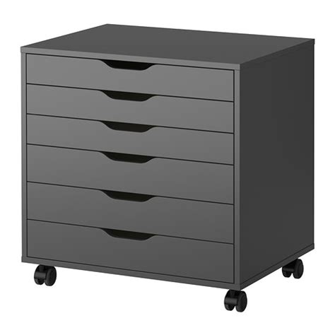 Drawers On Castors alex drawer unit on casters gray ikea