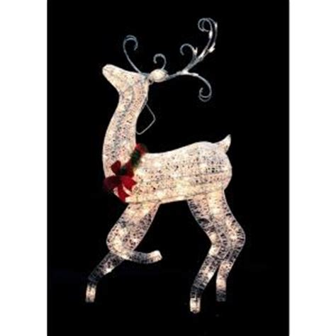 Home Depot Outdoor Decor by Home Accents 48 In White Grapevine Reindeer