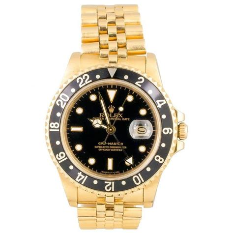 rolex yellow gold gmt master jubilee bracelet automatic