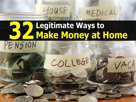 32 legitimate ways to make money at home
