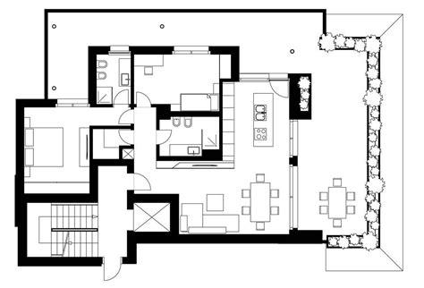 plano de departamento moderno con dise 241 o de interiores
