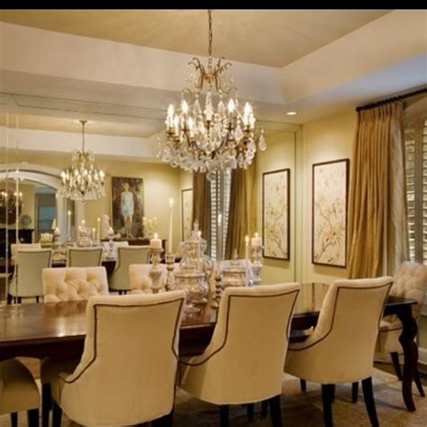 wall mirrors for dining room glam dining room w wall of mirrors new house pinterest