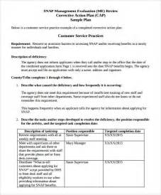 Employee Corrective Plan Template by Sle Corrective Plan Template 8 Documents In