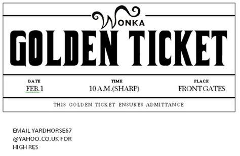 golden ticket template editable photo