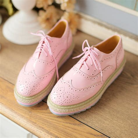 womens pink oxford shoes sweet students pink oxfords shoes 183 fashion europe