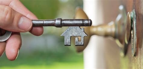 Front Door Key House Shaped Key At Front Door Stock Photo Getty Images