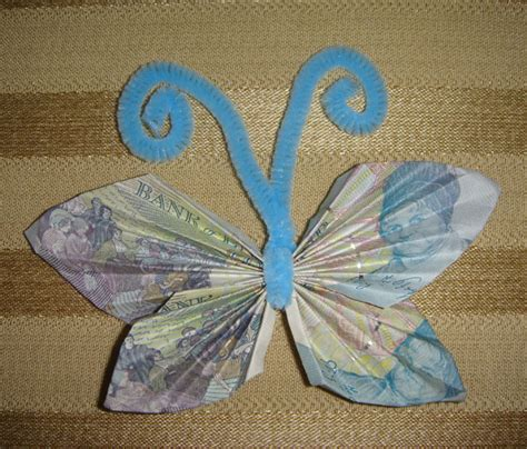 Money Origami Butterfly - money origami butterfly