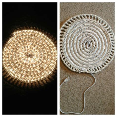 crochet light rug crocheted rope light rug i just made it and i really it another diy project