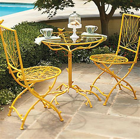 Yellow Bistro Table And Chairs 100 Yellow Patio Chairs Yellow Patio Furniture Shop The Bes Pair Of Yellow Outdoor Vintage