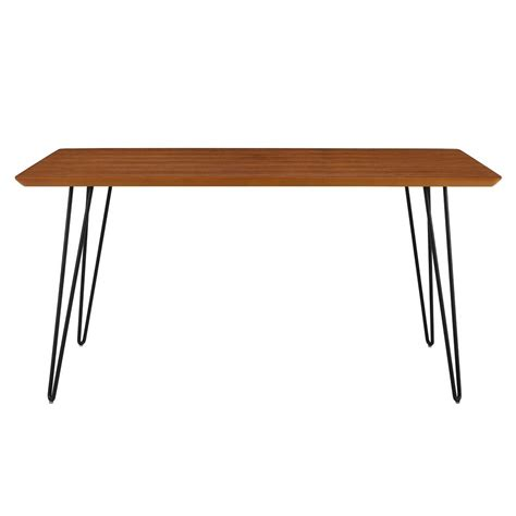 dining table hairpin legs we furniture 60 in walnut hairpin leg dining table