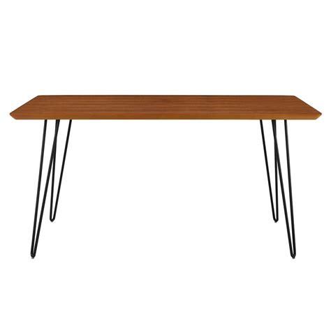 hairpin leg dining table we furniture 60 in walnut hairpin leg dining table