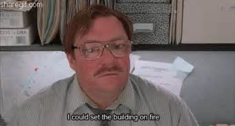 Office Space Beating Up Printer Office Space My Stapler