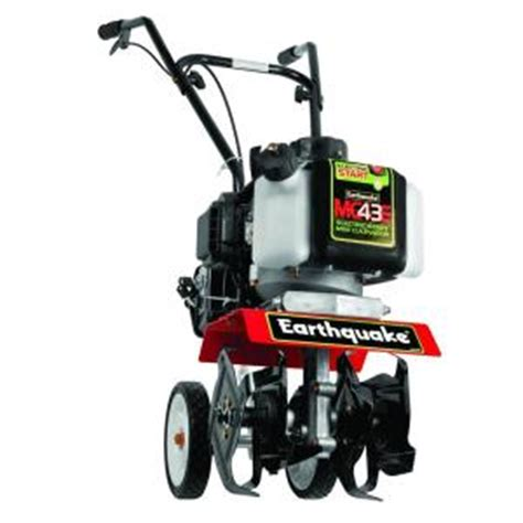 earthquake 43 cc electric start mini gas cultivator mc43e