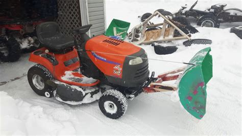 diy lawn tractor snow plow cheap easy youtube