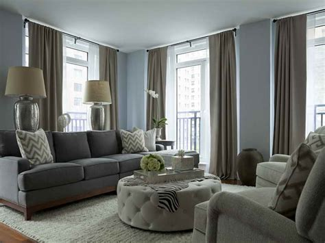 Living Room Color Schemes Gray | bloombety gray living room color schemes with round