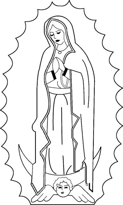Our Lady Of Guadalupe Coloring Page Only Coloring Pages Our Of Guadalupe Coloring Pages