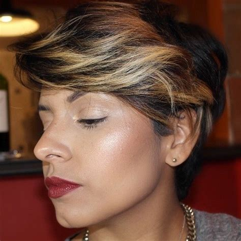 highlighting pixie hair at home blonde red brown ombre ed and highlighted pixie cuts