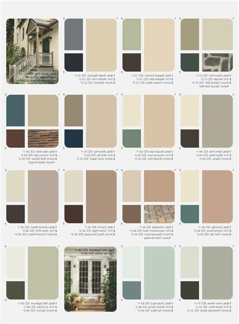 Painting Color Schemes | 25 best ideas about exterior paint color combinations on