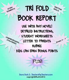 tri fold book report projects 1000 images about book reports on book