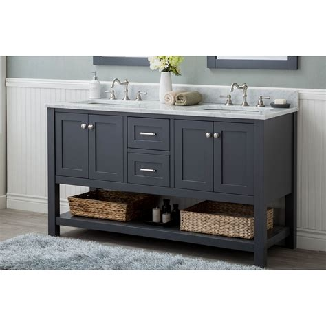 bathroom vanities wilmington nc alya bath wilmington 60 in double bathroom vanity in gray
