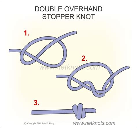 Easy Knots - overhand stopper knot easy to tie stopper knot