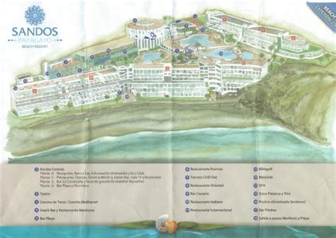 sandos papagayo resort hotel map hotel map picture of sandos papagayo resort playa