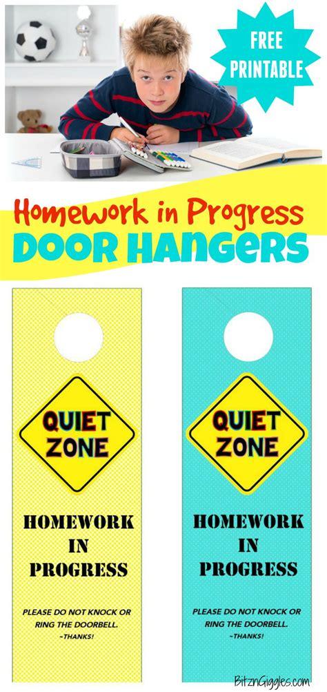 Door Back Hanger By Guess homework in progress door hangers