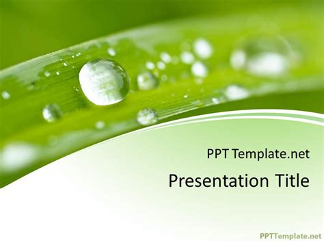 free nature ppt template
