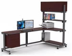 Standing Sitting Desks Adjustable Adjustable Sit And Stand Corner Workstation Afcindustries
