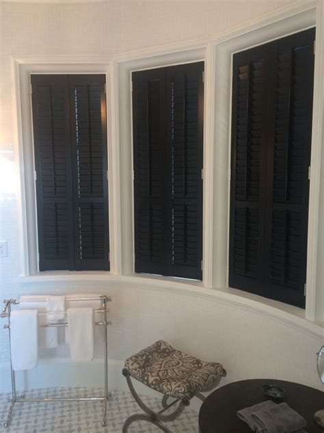 bathroom shutters interior beautiful black bathroom interior plantation shutters