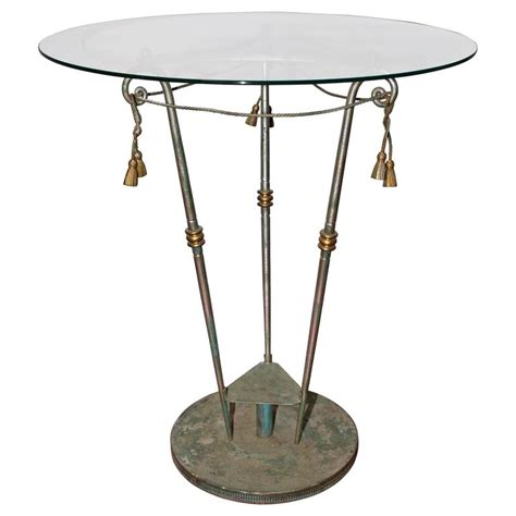 glass center table neoclassical iron and glass center table for sale at 1stdibs