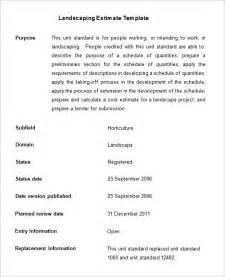 landscaping estimate template 6 landscaping estimate templates free word excel pdf