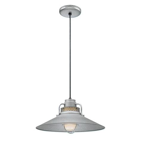 Galvanized Pendant Barn Light Shop Millennium Lighting R Series 18 In Galvanized Barn Mini Warehouse Pendant At Lowes
