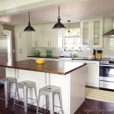 Cape And Island Kitchens Remodelaholic White Kitchen Overhaul With Diy Marble Island