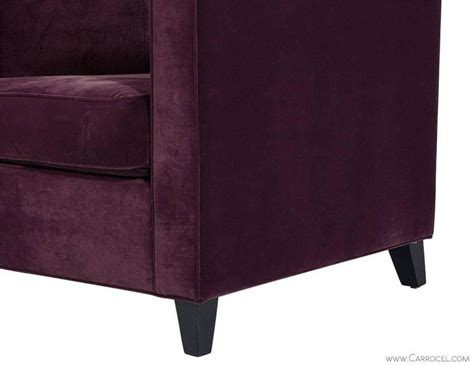 Plush Purple Chair by Cube Lounge Chair In Plush Purple Velvet At 1stdibs