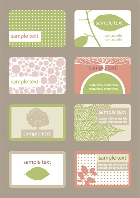 Free Vector Fashion Business Card Templates by Free Vector Business Card Template 04 Vector Business