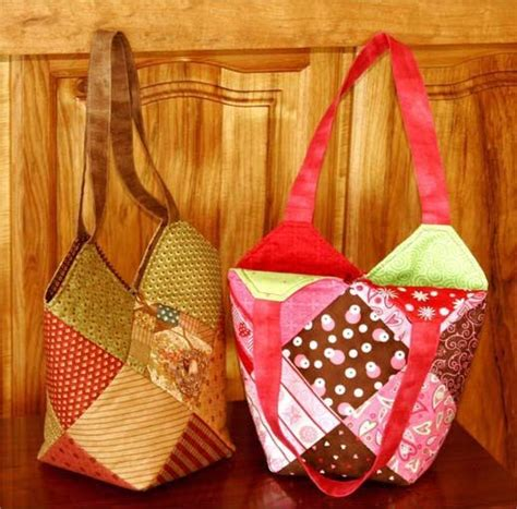 Easy Patchwork Bag Patterns - freebies for crafters sweet sixteen charm square tote bag