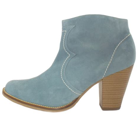 light blue boots kaiser marisana suede heeled ankle boots in