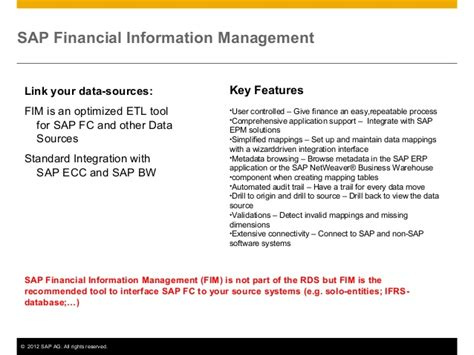 sap for solvency 2 reporting rds solution details