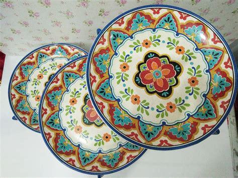 Piring Makan Keramik Motif Novastyl jual piring makan piring keramik piring makan motif