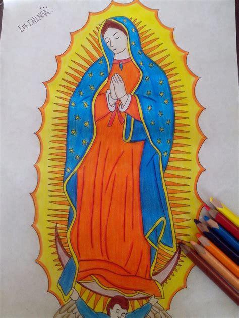 imagenes para dibujar a la virgen de guadalupe dibujo virgen de guadalupe youtube